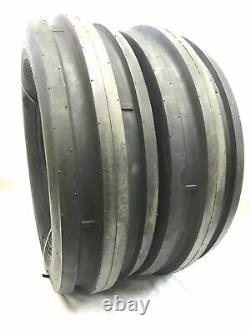 (TWO) 9.5L-15 9.5-15 3 RIB Tubeless Tires Heavy Duty 8ply Rated TRACTOR
