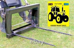 Tractor Bale Spike Forks Quicke No 3 Bracket Twin Tine Model Free Delivery