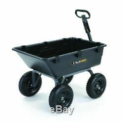 Tractor Dump Cart Trailer Heavy Duty Wheelbarrow Garden Landscaping Towing Farm