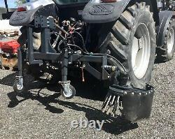 Tractor Mounted Weed Brush / Curb / Driveway / Building Price Incldues Vat