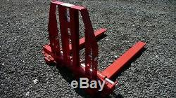 Tractor pallet forks, 3 point linkage, Heavy Duty