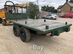 Twin Axle Heavy Duty Farm / Construction Digger / Excavator Trailer  Vat Includ