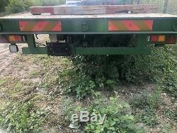 Twin Axle Heavy Duty Flat Bed Bale Trailer