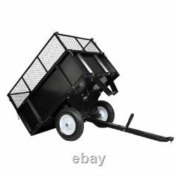 VidaXL Garden Trolley 300kg Outdoor Lawn Mower Cargo Transport Tractor Trailer