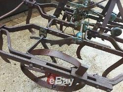 Vintage Cultivator Wheels TurnFreely Minor Restoration Project Or Garden Feature