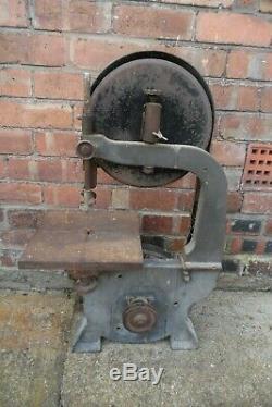 Vintage Heavy Duty Bandsaw Belt Driven Motor Or Stationary Engine