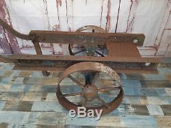 Vintage Heavy Duty Stationary Steam Engine Trolley Cart Lister Bamford Ruston