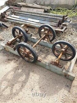 Vintage cast iron wheels very heavy duty best around