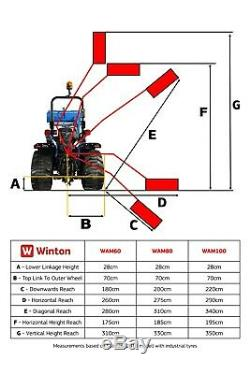 WAM80 Winton Flail Hedge Cutter 80cm Wide For Compact Tractors