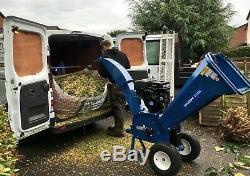Wood Chipper Garden Branch Shredder ELECTRIC START Petrol 14HP 420cc HEAVY DUTY
