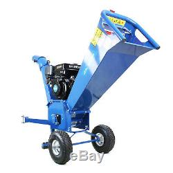 Wood Chipper Shredder Garden Chippings HEAVY DUTY Petrol 208cc 7hp 70mm + Ramps