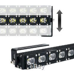 Xprite 20inch CREE LED Light Bar Spot Flood Combo Work Lamp for Offroad ATV Jeep