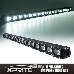 Xprite 30Inch 90W CREE LED Offroad HD Light Bar Spot Flood Combo C7 Alpha Series