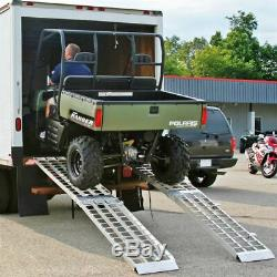 144 Heavy Duty 2000 Lb Tracteur À Gazon, Vtt Et Golf Panier Loading Ramps Mf2-14438