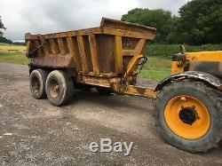 14-16 Ton Benne Basculante, Muck Remorque, Heavy Duty Dump Trailer, Stone, Digger