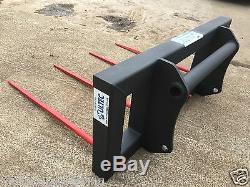 1.8m Heavy Duty Bale Enrichissement (télescopique Handler / Chargeur) Jcb Matbro Manitou