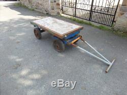 £ 250 + Vat 2 Ton Heavy Duty Chariots À Chariots À 4 Roues Garden Farm Tracteur