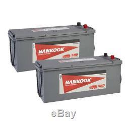 2x 627 Batterie 12v 145ah Camion Plombé 800a Heavy Duty Pour Les Tracteurs, Bateaux, Camions