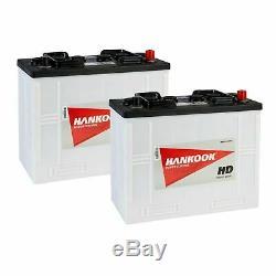 2x Hankook 62512 (655) Commercial Poids Lourd Bateau Et Tracteur Batterie 12v / 125ah