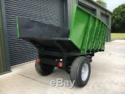 3-4 Ton Dump Trailer, Digger / Pelle, Heavy Duty, Tracteur Benne Basculante
