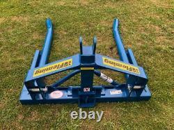 (£428 + Tva) Nouveau Fleming Hdbbt Heavy Duty Round Bale Tipper / Lifter
