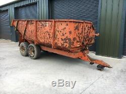 8-10 Ton Benne Basculante, Muck Remorque, Heavy Duty Dump Trailer, Stone, Digger