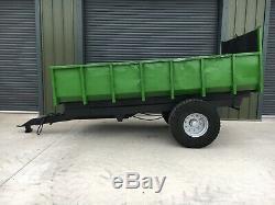 8-10 Ton Dump Trailer, Digger / Pelle, Heavy Duty, Tracteur Benne Basculante