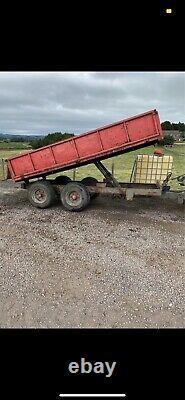 8 Tonne Drop Side Tipping Dump Farm Trailer Heavy Duty No Vat