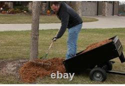 Acier Dump Cart Tracteur Remorque Fixation Jardin Yard Lawn Sheet Wall 10 Cu Ft