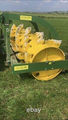 Aérateur De Prairie 8ft Monté 20, Tracteur, Cultivateur, Rouleau, Drainage De Sol