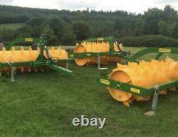 Aérateur De Prairie 8ft Monté 30, Tracteur, Cultivateur, Rouleau, Drainage De Sol