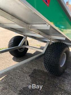 Apache Atv Remorque Remorque Groundsman 11oo Facile Winch Benne Basculante Heavy Duty