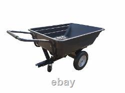 Atv Trailer Garden Tipping Quad Farm Heavy Duty Tractor Pneumatic Tyres 300kg