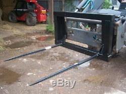 Bale Spike Euro 8 Quicke Tracteur Chargeur 2 Tine Heavy Duty Attachement
