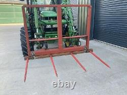 Bale Spike, Pliable Euro 8 Brackets Paille Bales, Fourches De Tracteur, Télémanipulateur