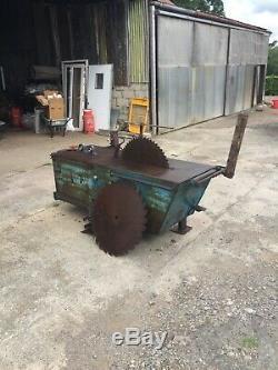 Banc De Scie Robuste Tracteur Kidd Pto Conduite Sur Fits Attelage 3 Points Passe Bien