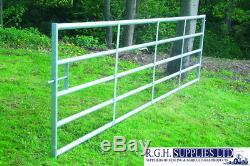 Bar 5 Heavy Duty Cattle Cour Champ Métal Porte Fort Pour Stock / Sécurité 3 '16