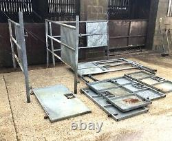 Cattle Ai Stalls / Livestock Race Pens Tva Inclus Galvanised Heavy Duty