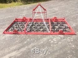 Chaîne Montée Harrowithgrass Harrow 3 Mètres Manuel Fold Heavy Duty Petit Tracteur