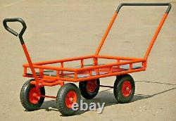 Chariots De Jardin Et Wagons Grandes Roues Utilitaire Wagon Tracteur De Fret Remorque