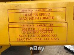 Chieftain Trailer / Road Trailer Plant Trailer With Draw Bar Heavy Duty 2015