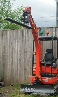 Digger Hedge Cutter, Barre De Doigt Hydraulique, Grande 1,85m, Grossesse, Non Vat
