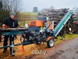 Dominator Vr12t Processeur De Bois De Chauffage 12ton Log Slideter Stihl Tronçonneuse Et Convoyeur
