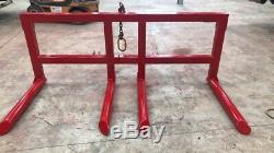 Double Round Bale Handler / Transporteur Fait Sur Commande Très Heavy Duty