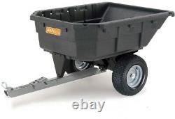 Dump Panier 1000 Lb Capacité Poly Swivel Pelouse De Jardin Tracteur Attachement Vtt Nouveau