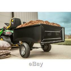 Dump Panier Tondeuse Tracteur Vtt Remorque Jardin Jardin Beton Acier Grande États-unis