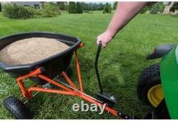 Engrais De Pelouse Agri-fab Spreader Salt Tow Tirer Derrière Le Tracteur Diffusion