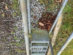 Escalier À Jauge Lourde Galvanisé Belvédère Trou De Golf, Salon De Traite, Issue De Secours
