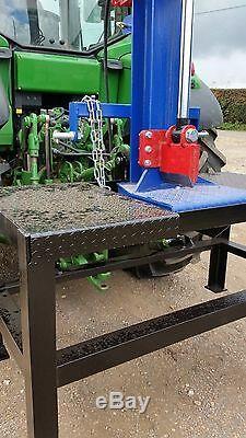 Fendeuse À Bois Hydraulique 20 000 KG 20 Tonnes Jsa Heavy Duty. Peinture 2k Avec Table