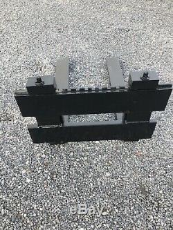 Fourches Tracteur Avec Plaque Arrière Très Lourd Devoir Vgc No Tva